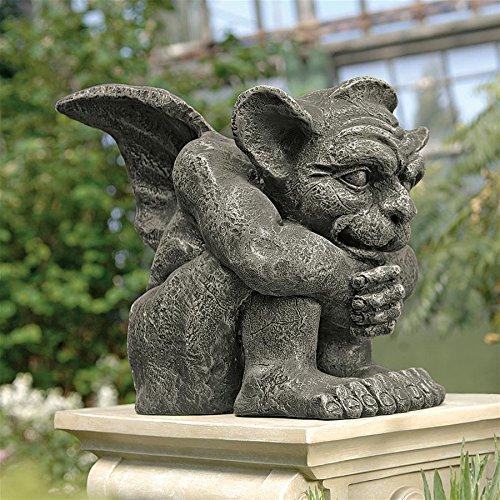 (Design Toscano Emmett The Gargoyle Gothic Decor Statue, Small 10 Inch, Polyresin,)