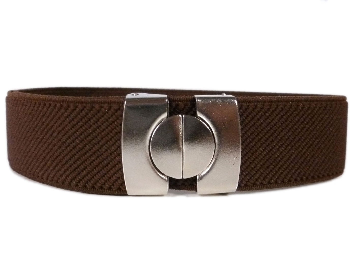 Childrens 1-6 Years Plain Coloured fully adjustable Stretch Belt KIDSBELTCbrown