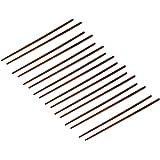 Wooden Chopsticks Kitchen Hot Pot Chop Sticks 8 Pairs Coffee Color
