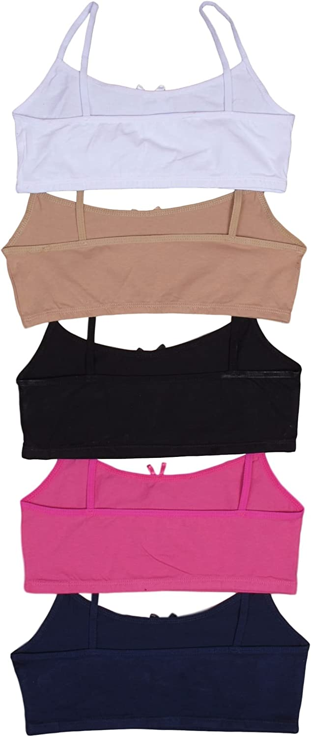 Sweet /& Sassy Girls 10 Pack Cotton and Spandex Crop Training Bra