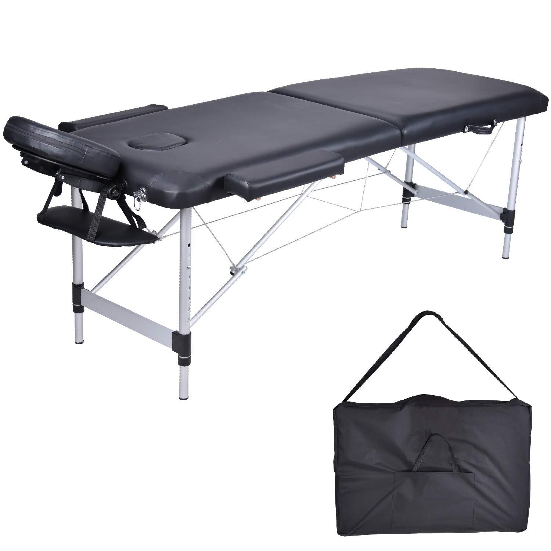 MCDear Mesa de Masaje Plegable de Aluminio Mesa 2 Zonas Mesa de ...