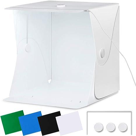 Amzdeal - Caja de Fotos portátil (40 x 40 cm), diseño de Caja de luz Plegable, para