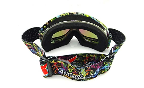 7fe2349226c Amazon.com   BeBeFun Junior Kids Youth Ski Goggles Anti Fog Lenses with Dual  Lens For Girl and Boy-Butterfly   Sports   Outdoors