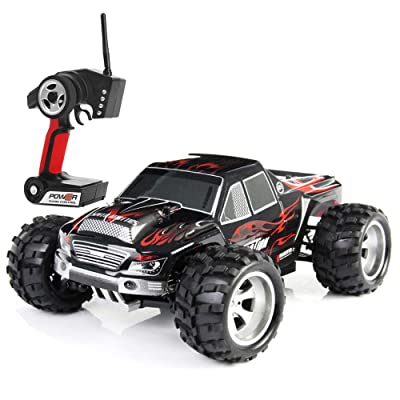 Wltoys A979 1:18 Scale 4WD Monster Truck Rc Car High Speed 50km/h 4WD 2.4Ghz Remote Control Truck Radio Controlled Off-Road RC Car Electronic Monster Truck R/C Hobby Grade Cross-Country Car: Toys & Games