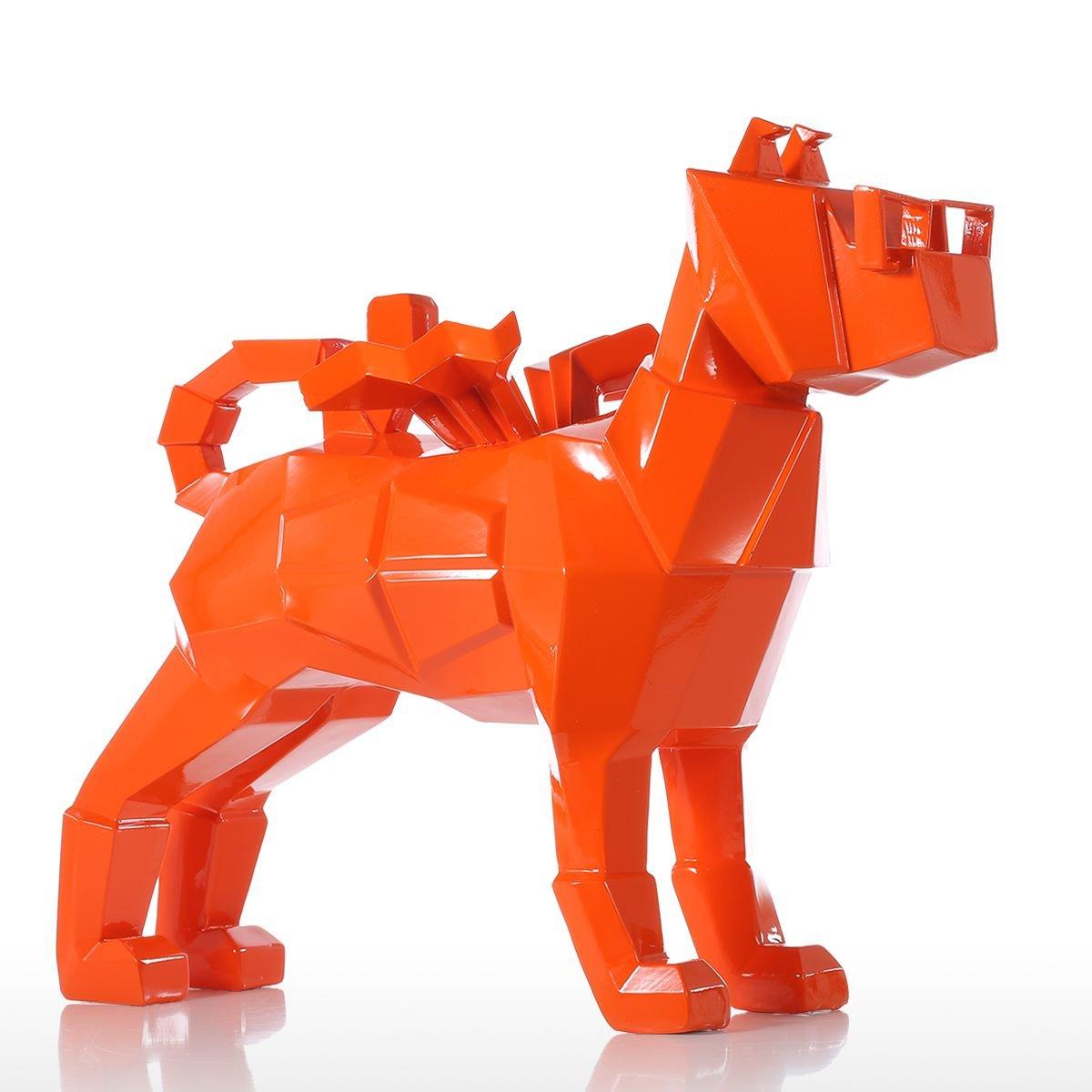 Tomfeel Glasses Dog Gold Resin Sculpture Fiberglass Puppy