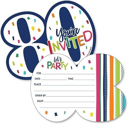 Amazon.com: Tarjetas de invitación con sobres para 80 ...