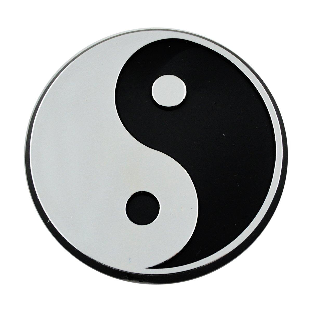 Yin Yang Peace Chrome Auto Emblem 2.5 x 2.5 EvolveFISH EF-EMB-P-00051