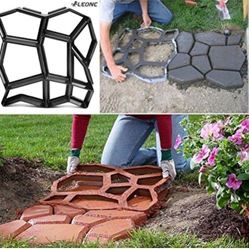 Cheap  LEONC Paving Pavement Concrete Mould Stepping Stone Mold Garden Lawn Path Paver..