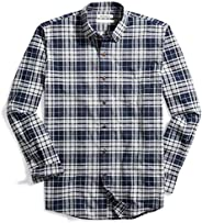 Amazon Brand - Goodthreads Men's Standard-Fit Long-Sleeve Plaid Oxford S