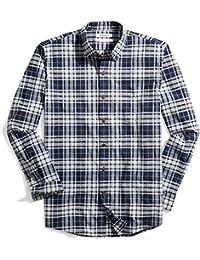 Men's Standard-Fit Long-Sleeve Plaid Oxford Shirt