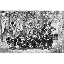 New 4x6 Civil War Photo: Mess of the 93rd New York Volunteers at Bealeton