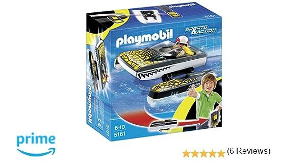 PLAYMOBIL - Click & Go Croc Speedboat, Set de Juego (5161): Amazon ...
