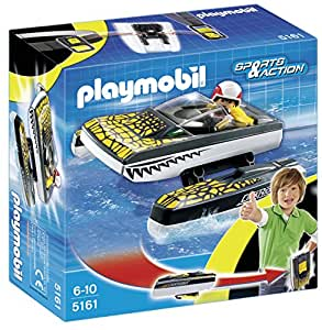 Playmobil - Click & Go Croc Speedboat, set de juego (5161)