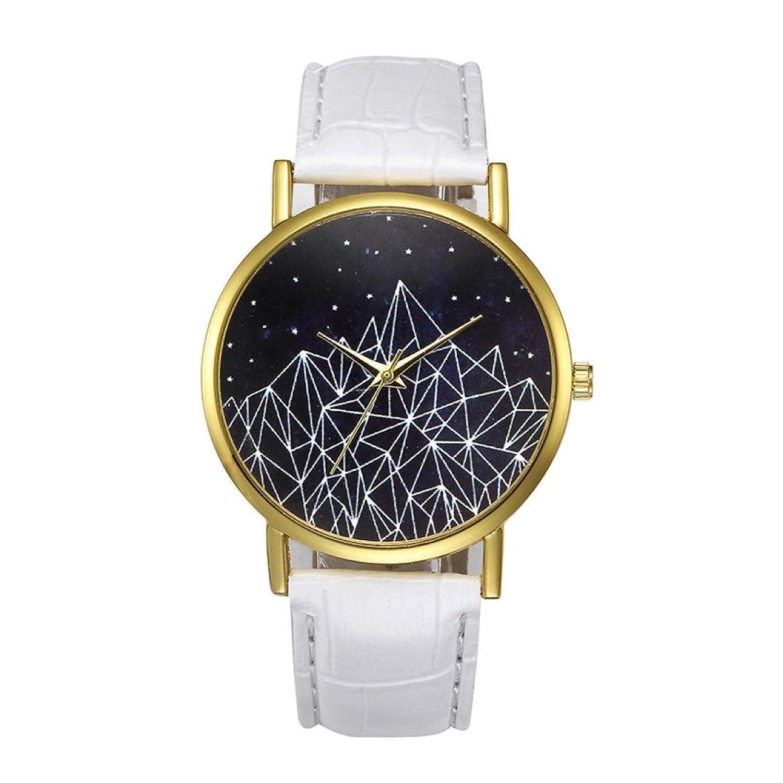 Sinmaレディースクォーツ腕時計シンプル腕時計レザーブレスレットアナログラウンド腕時計 B072L41TW5