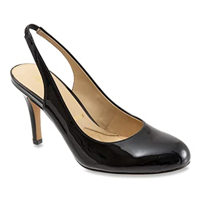 Trotters Women's Gidget Slingback,Black Soft Patent Leather,US ...