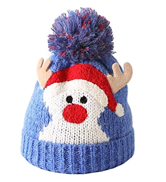 October Elf Christmas Childrens Wool Hats Knit Caps Kids Gift for Toddler  Girls Boys Autumn and a60c6ac7f58
