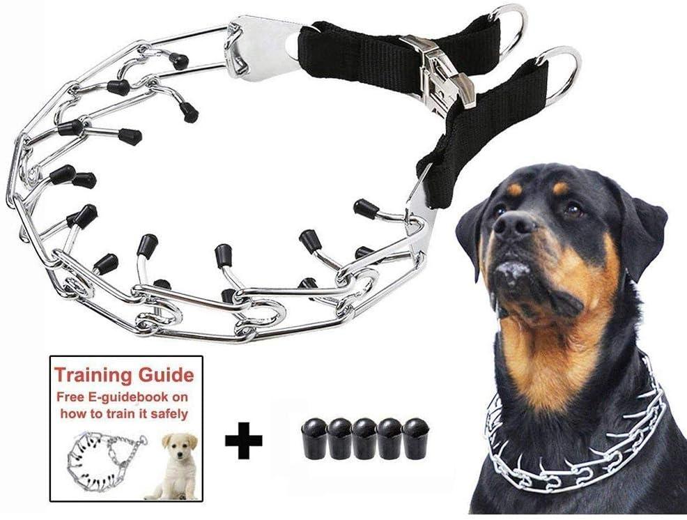 starter Collar Pinchos Perro,Collar Adiestramiento Perros - Collar De Cadena De Estimulación Especial para Perros De Entrenamiento con Cubierta Negra
