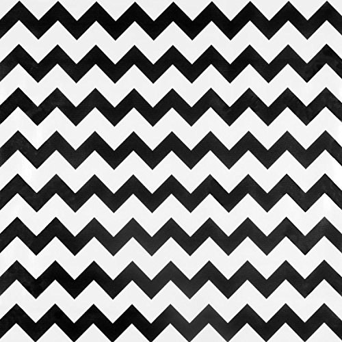 Black Chevron Oilcloth - By the Yard ()