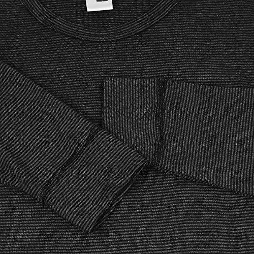 À shirt Courtes Adamo Underwear T Noir Xxl Gris Manches Rayé S5wqCEBnqx