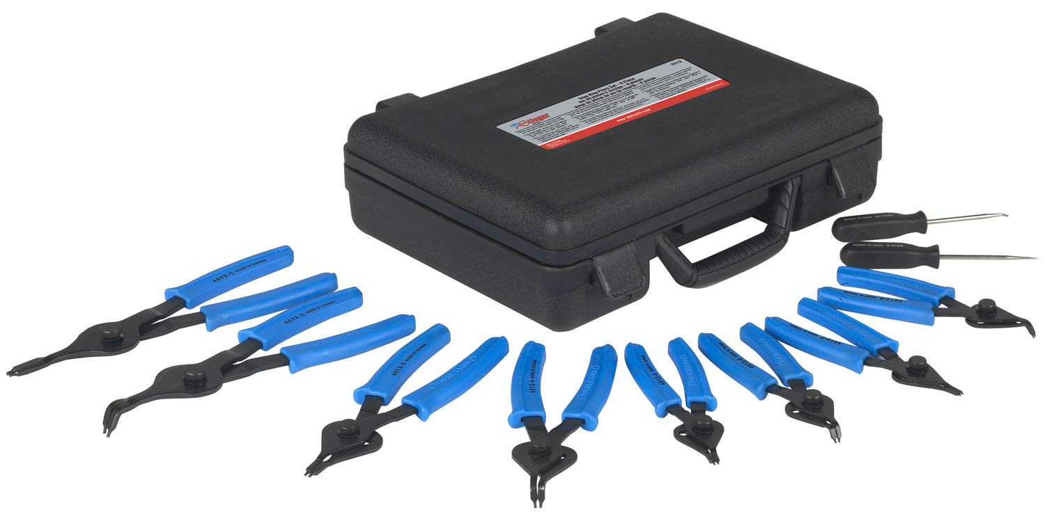 OTC 4512 Stinger Internal and External 8 Piece Snap-Ring Pliers Set by OTC