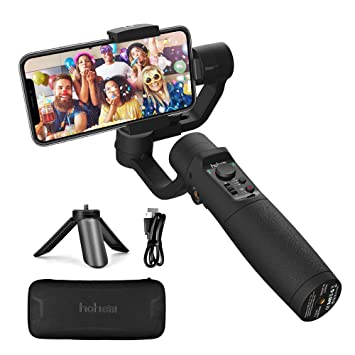 3-Axis GIMBAL STABILIZER FOR PHONE - Hohem iSteady Mobile Plus Gimbal  Handheld with Face Tracking Motion Time-Lapse APP Control VLOG Equipment  for