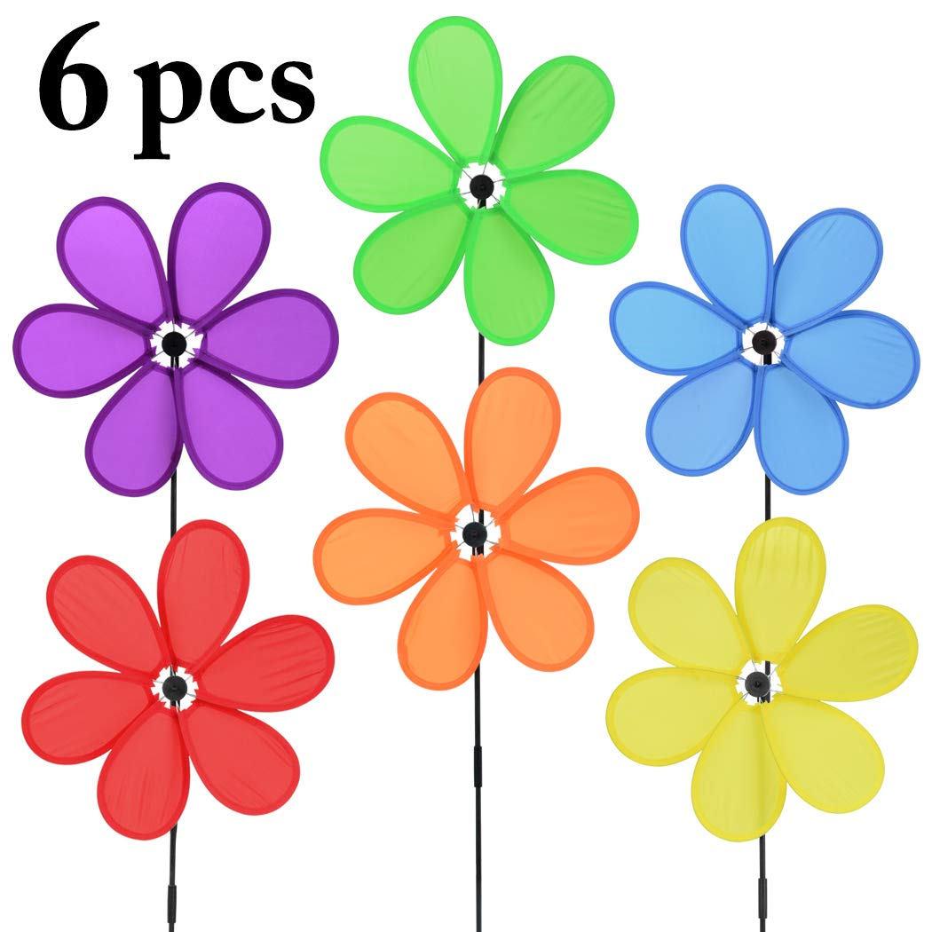 B bangcool Wind Spinners Sunflower Lawn Pinwheels Windmill Party Pinwheel Wind Spinner for Patio Lawn & Garden (Pattern 1) by B bangcool