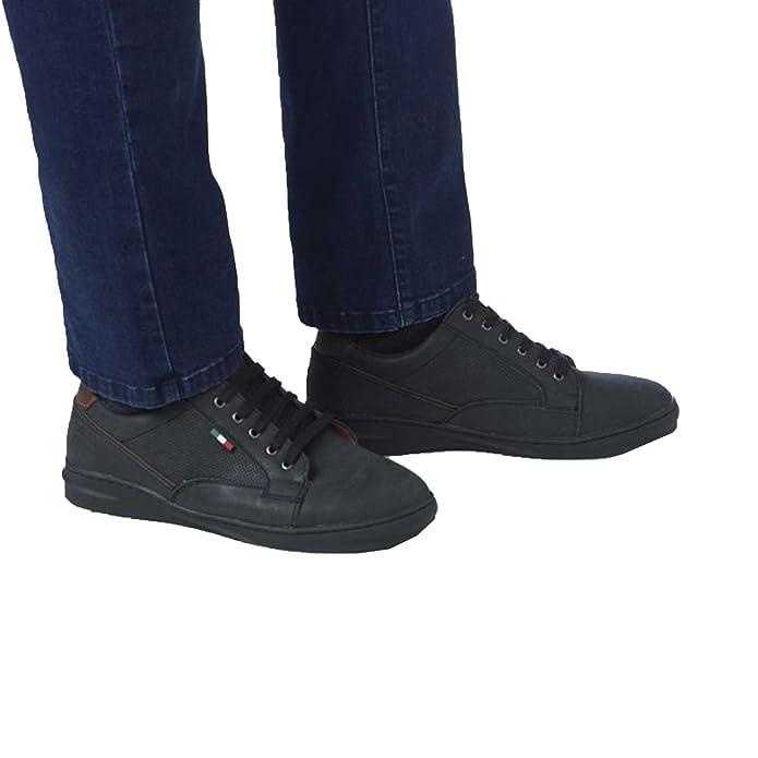 Duke D555 Zapatos de Cordones Para Hombre, Color Negro, Talla 47