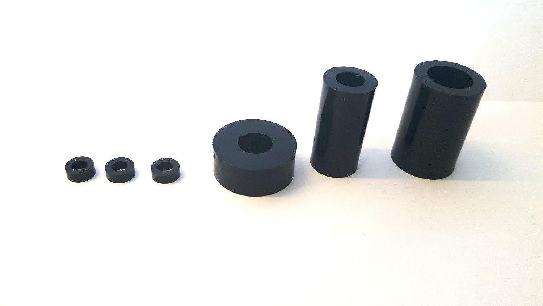 OL 100 St Distanzst/ücke//U-Scheiben aus Kunststoff Durchmesser 10 mm L/änge//H/öhe 3 mm Bohrung 5,3 mm