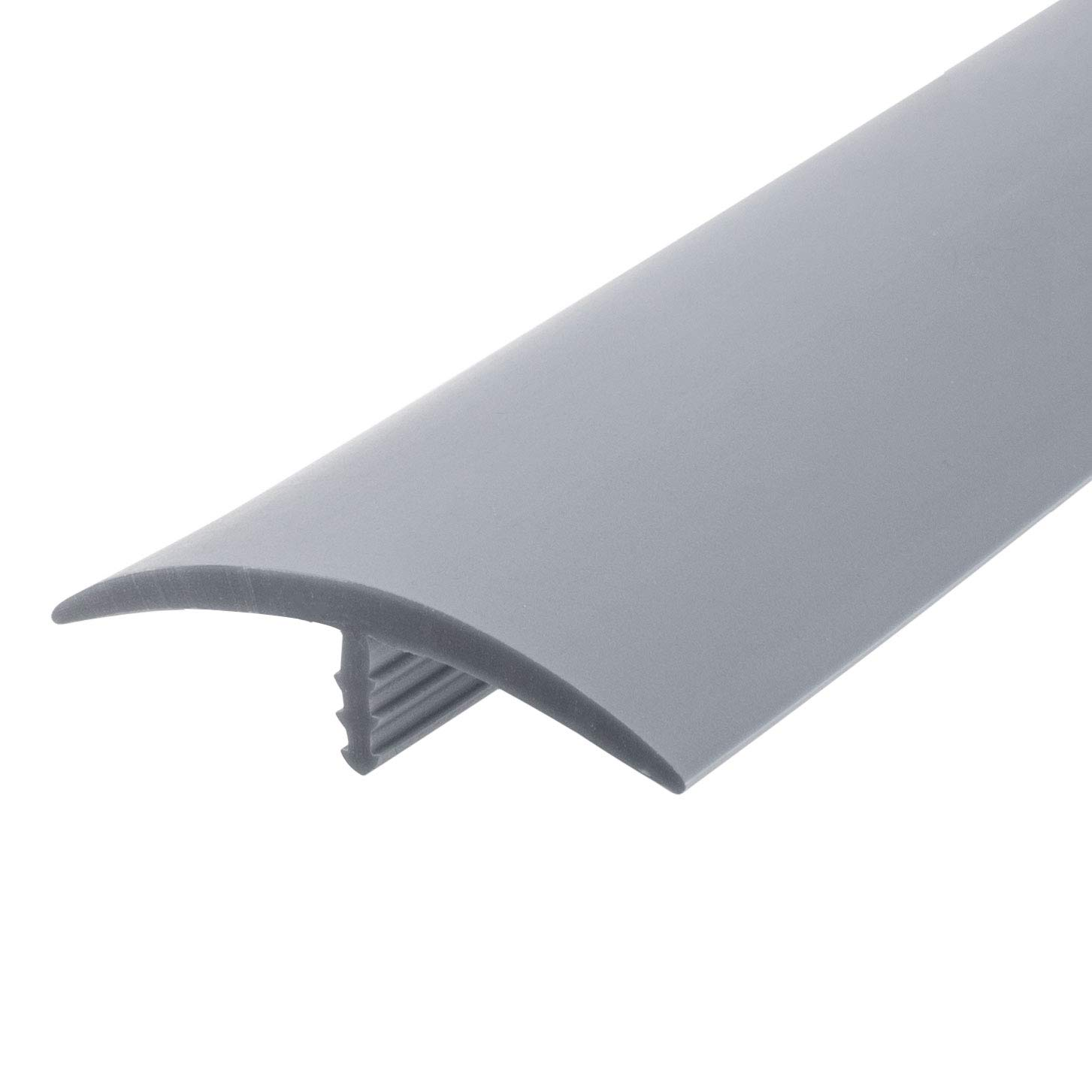 Outwater Plastic T-molding 1-1/2 Inch Silver Flexible Polyethylene Center Barb Tee Moulding 250 Foot Coil