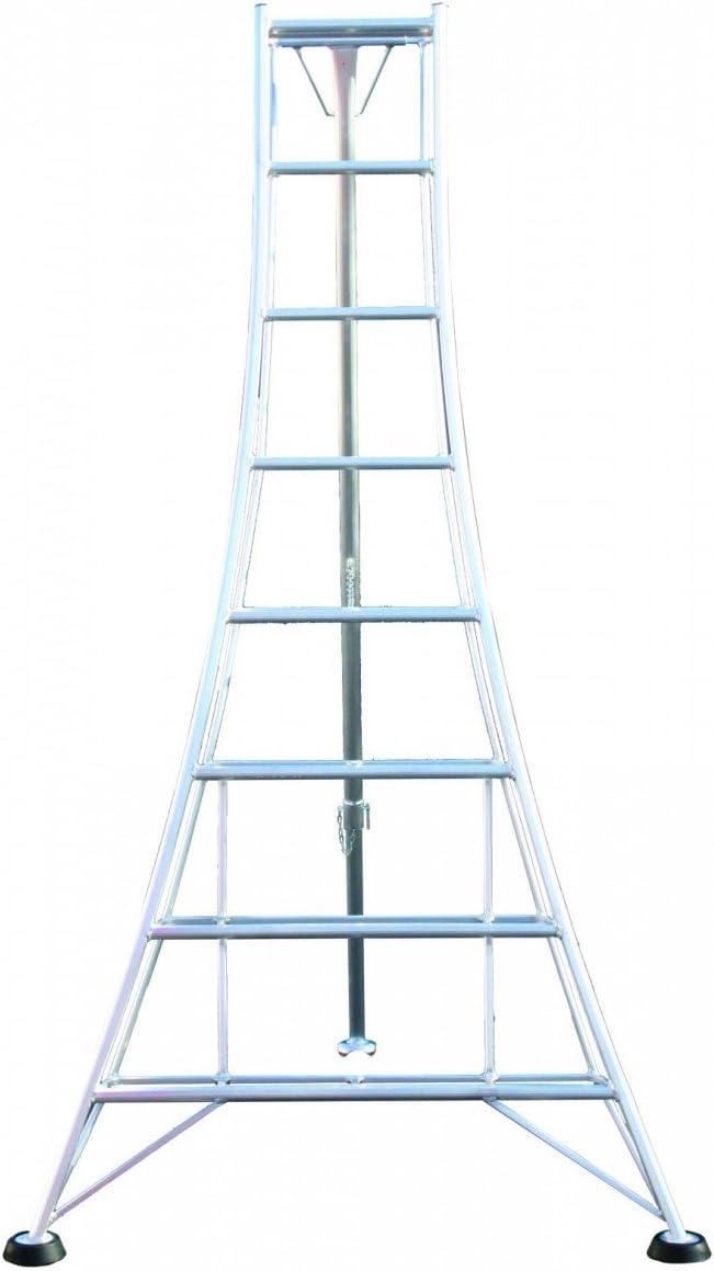 Escalera tipo trípode Ladders-Online, marco de aluminio, peldaños dobles, estándar, ideal para cortar los setos del jardín: Amazon.es: Bricolaje y herramientas