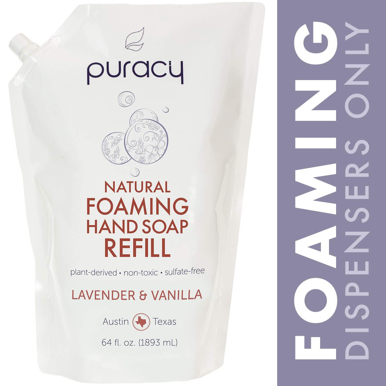 Lavender Vanilla Foaming Hand Soap 5oz Superior Materials Organic Bath Co Bath & Body