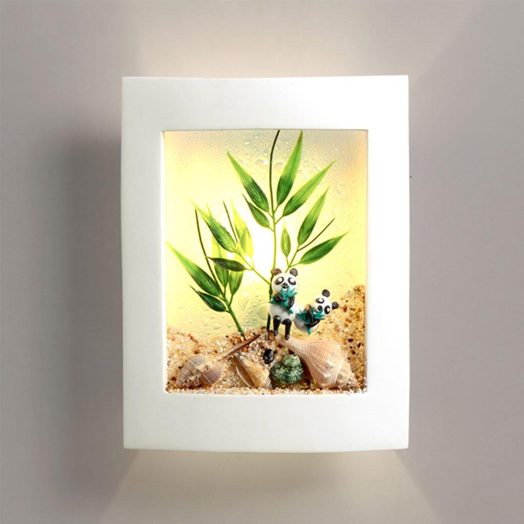 Unbekannt CHENGYI Wandlampe, Moderne Minimalistische Kreative Panda Wandleuchte Schlafzimmer Nachttisch Schöne Kinder Zimmer Gang Korridor Dekoration Nachtlicht