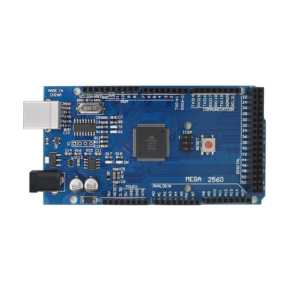 Huayuxin Mega2560 R3 ATmega2560-16AU CH340 Development Board with USB Cable for Arduino