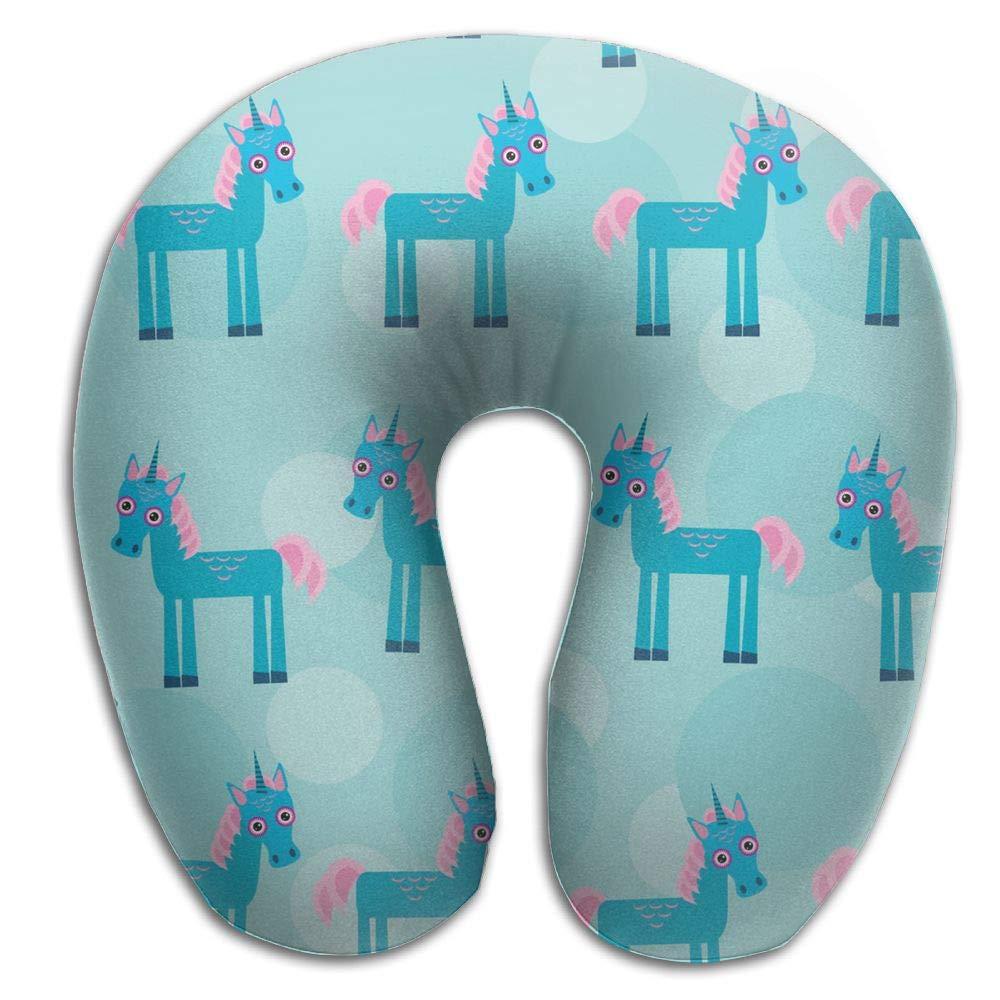 AXZC5pm Memory Foam Neck Pillow,Funny Cute Unicorn Animal Travel Pillow