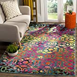 Safavieh Cherokee Collection CHR917A Light Blue and Fuchsia Pink Area Rug (6′ x 9′) For Sale
