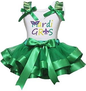 Petitebella Snowman Green White Polka Dots L//s Shirt Petal Skirt Ribbon Nb-8y