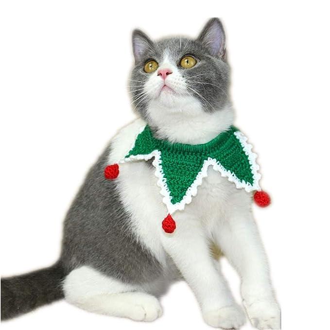 Cuello de Mascotas Tejido A Mano Baberos Accesorios Ajustables Para Perros Gatos Animales Hand-woven