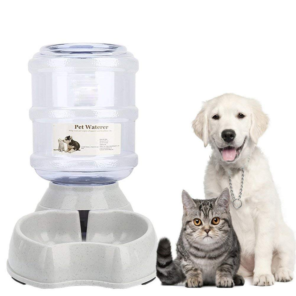 meleg otthon Pet Water Feeder Dispenser, Automatic Pet Waterer,Dog Cat Water Food Combo,Pet Water Dispenser Station,Automatic Gravity Water Drinking Fountain Bottle Bowl Dish Stand 1 Gal(3.8L)