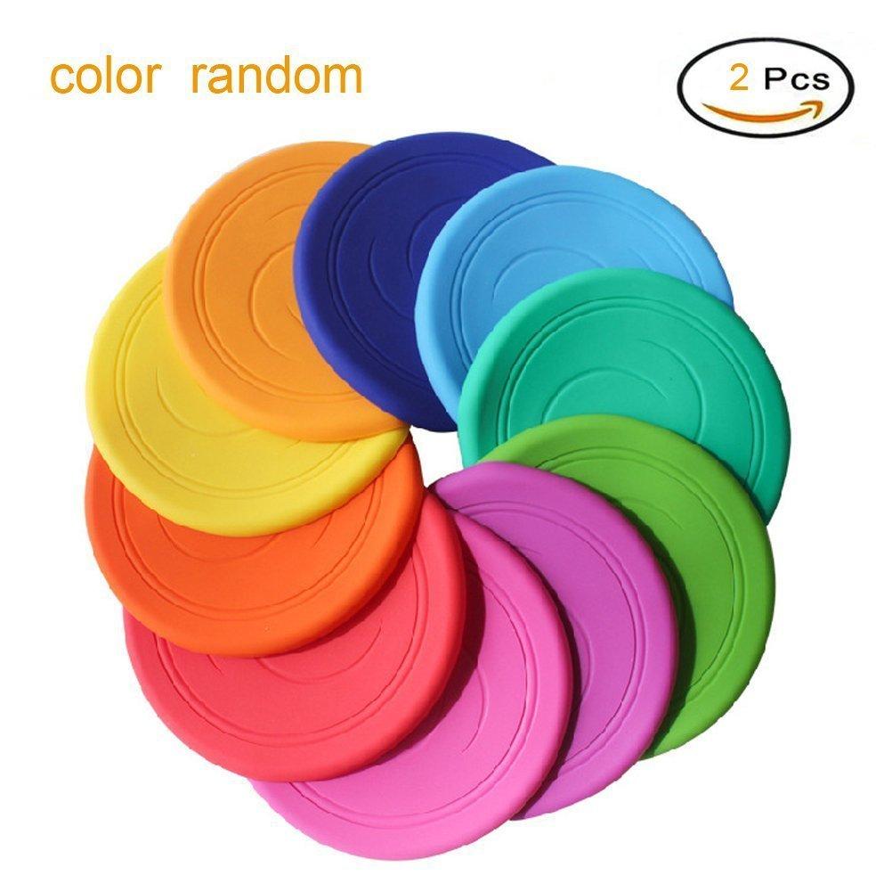 Frisbee Flying Disc Nicht Rutschen Soft Silikon Spielzeug Eltern Kind Zeit Outdoor Sport 2 Stück EQLEF®