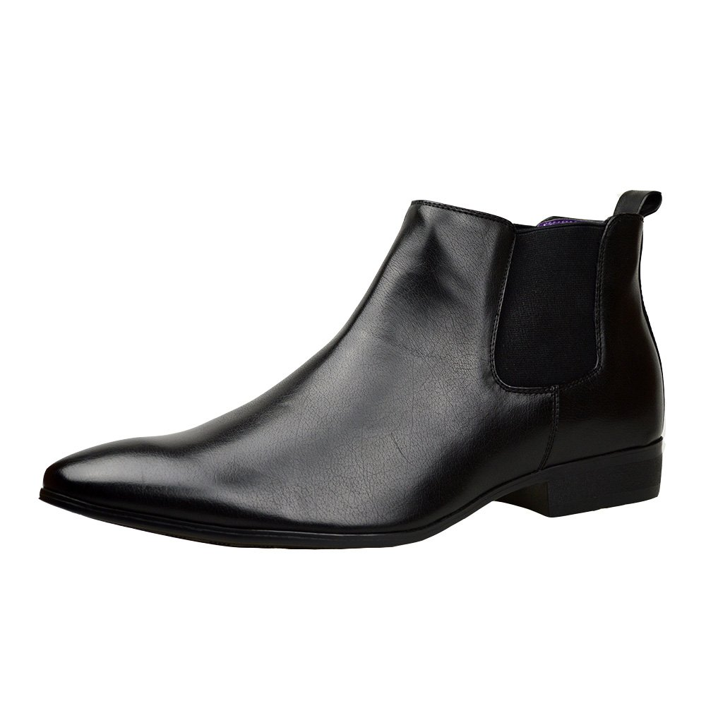 Robelli Mens Black Leather Smart Formal Casual Chelsea Boots Shoes UK Size 6 7 8 9 10 11