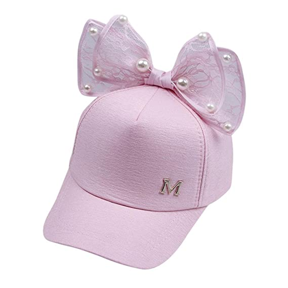 bb022e77104 Perman Sun Hat Girls Toddler Summer Pearl Bowknot Bucket Baseball Beret Cap  (Pink)  Perman  Amazon.ca  Watches