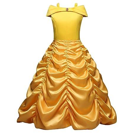 Hope La Bella y la Bestia Belle Vestido de Princesa Kids ...