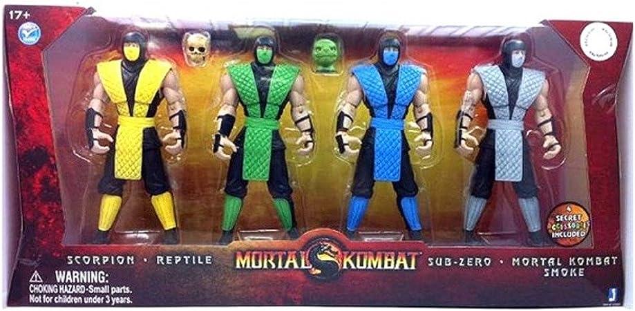 Amazon Com Mortal Kombat Retro 6 Inch Action Figure 4pack