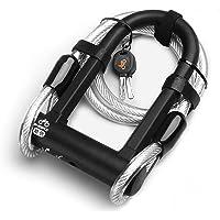 Domary Trava de bicicleta anti-roubo Combinação de fechadura de bicicleta de aço resistente ao cisalhamento com trava em…