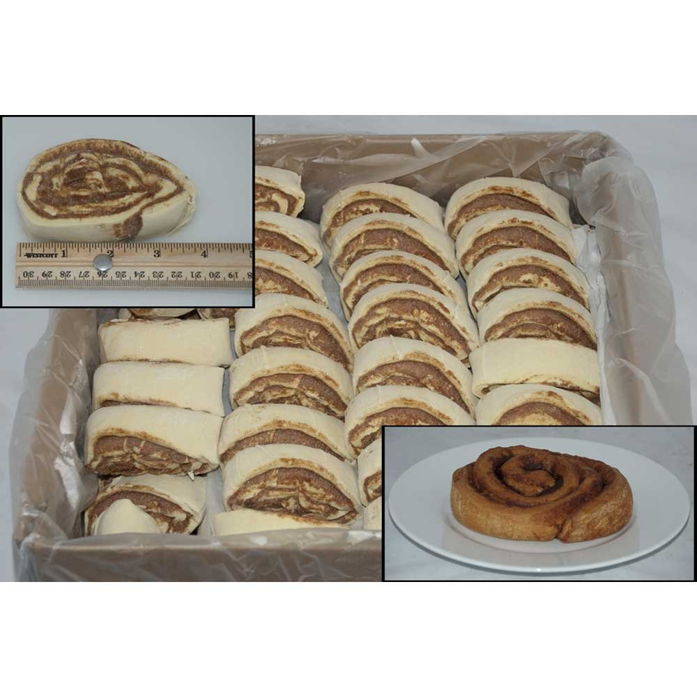 General Mills Pillsbury Plus Unbaked Classic Cinnamon Roll Dough, 4.5 Ounce - 90 per case.