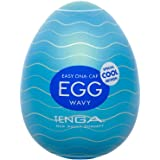 Tenga Egg Einweg-Masturbationsei Wavy Cool Special Edition, Soft Boiled