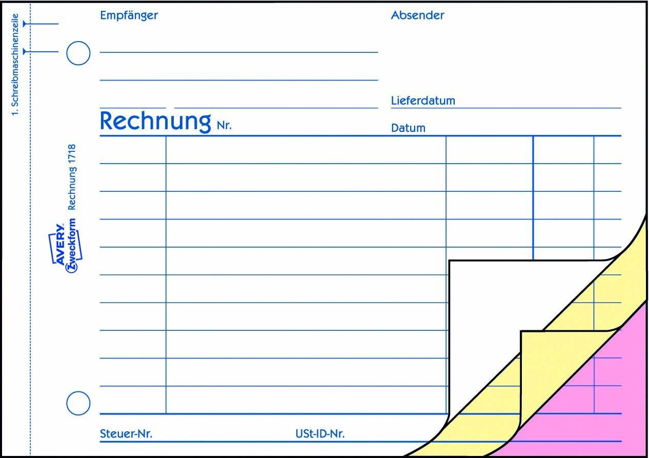 Avery Zweckform 1718 Rechnung Din A6 Quer Speziell Für österreich