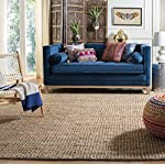 Safavieh Natural Fiber Collection NF447A Hand Woven Natural Jute Square Area Rug (6 Square)