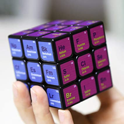 Adeeing 3x3x3 Magic Cube Periodic Table Printing Puzzles Toy for Kids