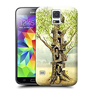 BY SHICASE Unique Style Tree Of 3D Designed Snap On Hard Tpu Defender Case Otterbox For Samsung Galaxy s5